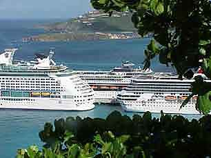 Netherlands Antilles - St. Maarten: A famous and import cruise ship destination