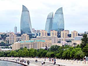Azerbaijan: Baku: Flame Towers