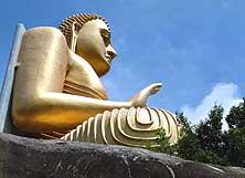 Sri Lanka/Dambulla: Buddha in the Golden Temple resp. Cave Temple