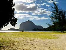 Mauritius (South): The rock 'Le Morne Brabant'
