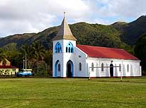 New Caledonia: Mission of Touaourou in the South of the main island Grande Terre