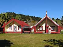 New Zealand: North Island - Taumarunui: Marae (Maori Meeting-House)