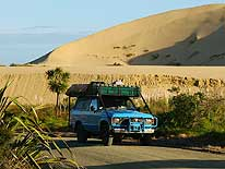 New Zealand: Te Paki Sand Dunes - 11 miles South of Cape Reinga on the Northern tip of the North Island
