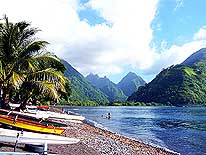 Tahiti/French Polynesia: Tautira and Vaitepiha Valley on the North coast of Tahiti-Iti