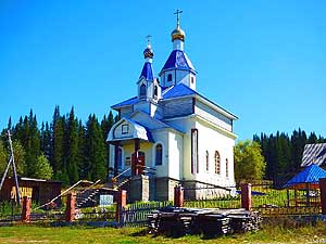 Russia/Altai Republic/Choya: Church of the Assumption of Mary