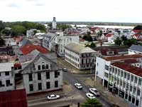 Paramaribo/Suriname: View from the wooden tower of the roman-catholic cathedral