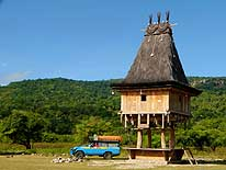 Timor Leste (East-Timor): House in Fataluku style before Com in the East