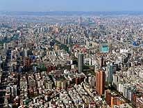 Taipeh/Taiwan: View from Taipei-101 Tower