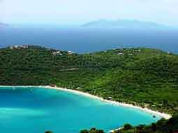 USVI: View over 'Magens Bay' - one of the most beautiful bays of the Caribbean
