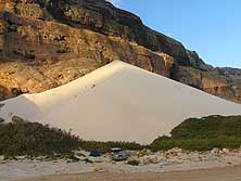 Yemen/Island of Socotra: Dunes at Arher